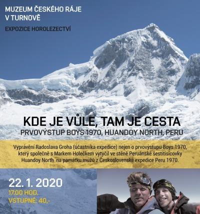 Radek Groh bude vyprávět v expozici horolezectví o výstupu v Peru