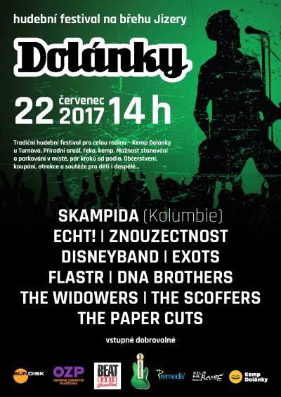 Festival Dolánky přivítá kromě českých kapel kolumbijskou Skampidu