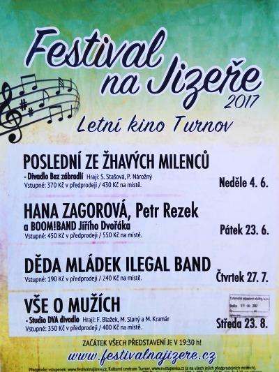 Festival na Jizeře oživí Letní Kino Turnov