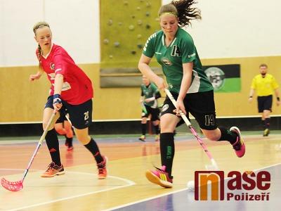 FOTO: Turnov hostil play off Ligy juniorek ve florbale