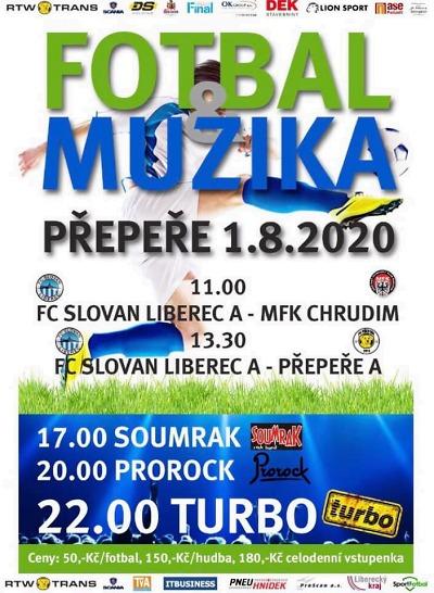 Do Přepeř se chystá Slovan Liberec i kapela Turbo