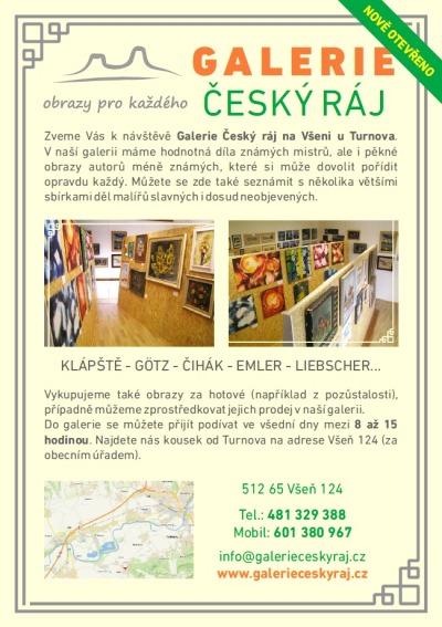 Na Všeni otevřou novou Galerii Český ráj