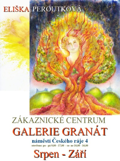 Obrazy Elišky Peroutkové najdete v turnovské Galerii Granát