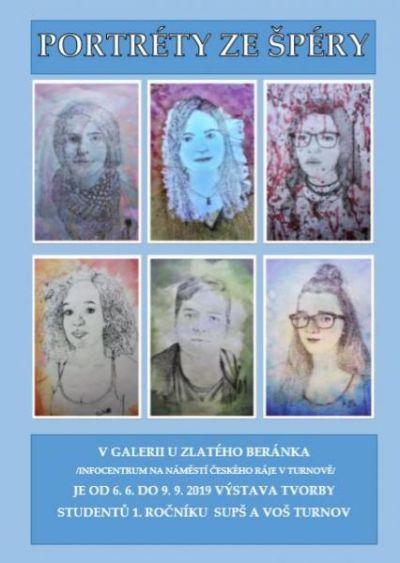 Galerie U Zlatého beránka představuje portréty studentů