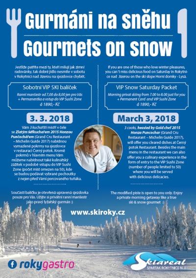 Gurmáni na sněhu zvou na kulinářské zážitky na rokytnickou sjezdovku