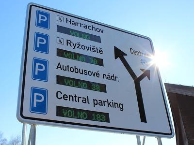 Harrachov spustil nový navigační systém parkování
