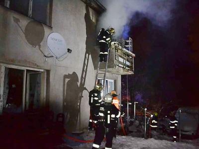 Liberečtí hasiči vyjížděli k požáru rodinného domu