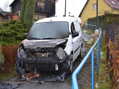 Požár Renaultu v Železném Brodě napáchal škodu 250 tisíc