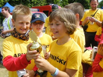 Družstvo mladších hasičů SDH Semily I skončilo čtvrté v soutěži Plamen