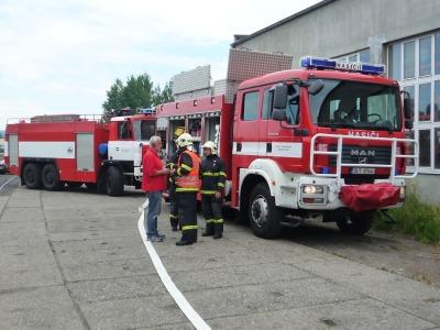 V Příšovicích hasiči zasahovali kvůli úniku čpavku