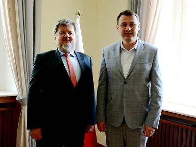 Hejtman Martin Půta navštívil polské velvyslanectví v Praze