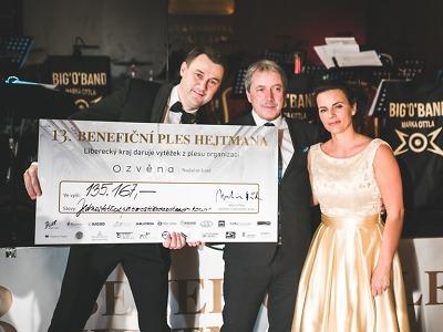Hejtmanský ples vynesl poprvé rekordní sumu více než milionu korun