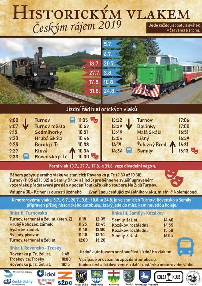 Historické vlaky o prázdninách znovu brázdí koleje v Českém ráji
