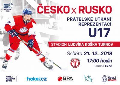 Hokejová reprezentace do 17 let se utká s Ruskem v Turnově a Vrchlabí