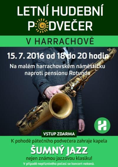 Hudební podvečer v Harrachově osvěží Šumný jazz