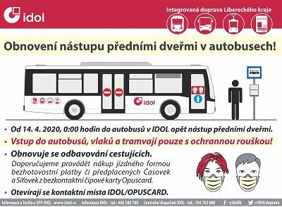 Autobusová doprava se od 14. dubna vrací téměř k normálu