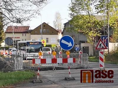 Začala přestavba křižovatky na Ostrém rohu v Jablonci nad Nisou