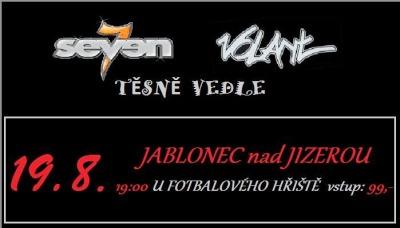 Na Jablonecké hudební noci zahrají Volant, Seven a Těsně vedle