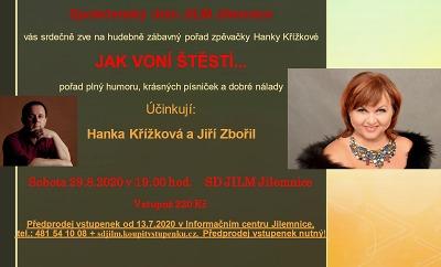 Jak voní štěstí prozradí v Jilemnici Hanka Křížková a Jiří Zbořil