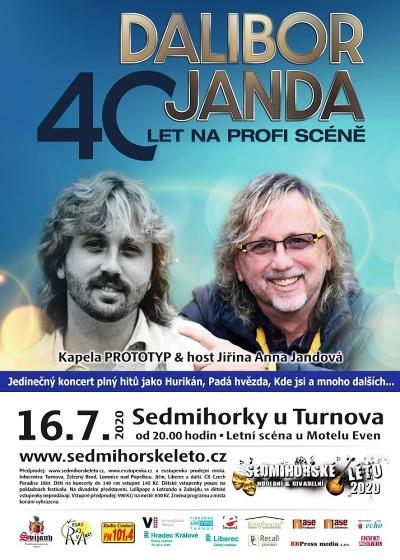 Dalibor Janda oslaví v Sedmihorkách 40 let na hudební scéně