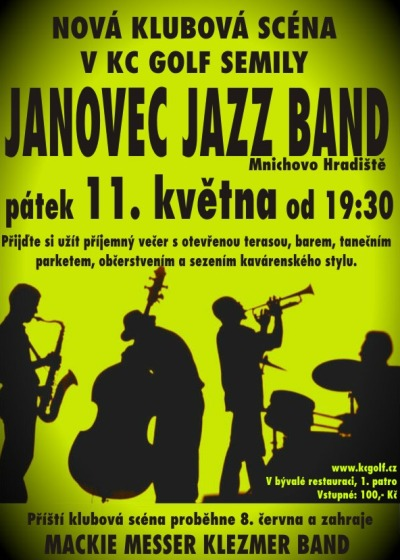 Koncert Janovec Jazz Bandu odstartuje Klubovou scénu v Semilech