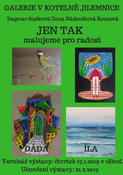 Jilemnická Galerie V kotelně otevře malířskou výstavu nazvanou Jen tak