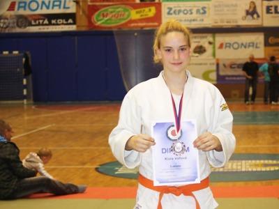 Turnovská judistka Klára Volfová bronzová na Přeboru České republiky