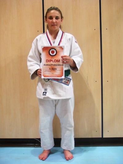 Judistka Andrea Prokorátová přivezla bronz ze šampionátu dorostu