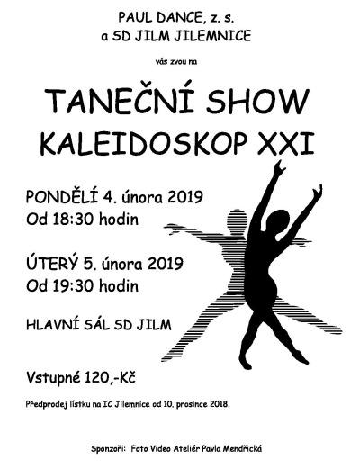Paul Dance znovu chystá oblíbenou taneční show Kaleidoskop