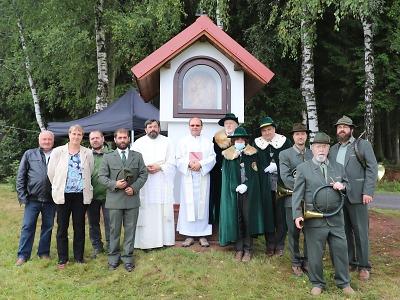 Kapličku Svatého Huberta postavili k výročí spolku Kavkázsko Libštát