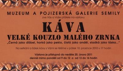 Káva a Malíři Pojizeří v semilském muzeu