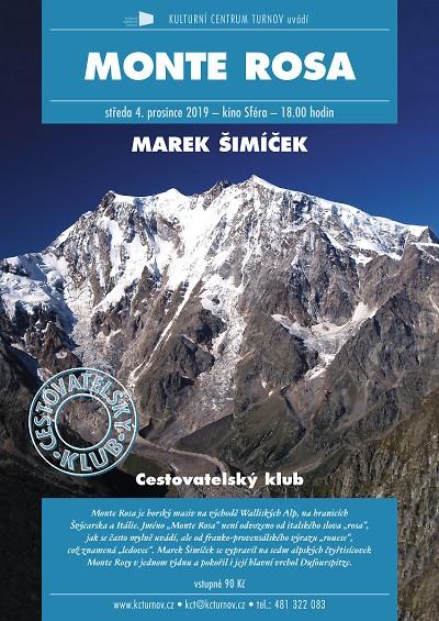 Marek Šimíček bude vyprávět o cestě na alpský masiv Monte Rosa