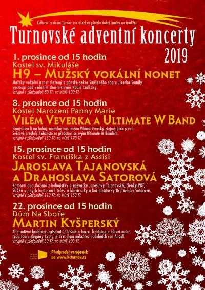 Turnovské vánoční koncerty se konají každou adventní neděli