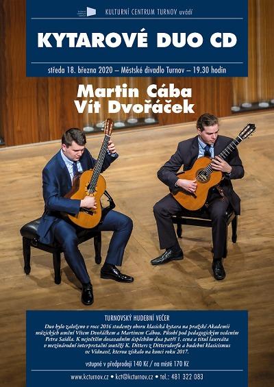 Kytarové duo CD zahraje fanouškům klasiky v turnovském divadle