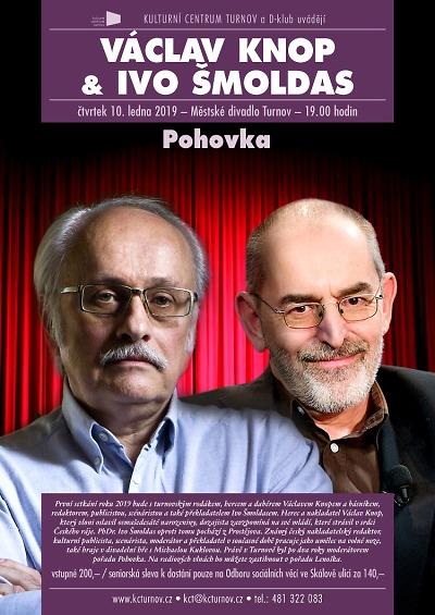 Na Pohovce se v turnovském divadle sejdou Ivo Šmoldas a Václav Knop
