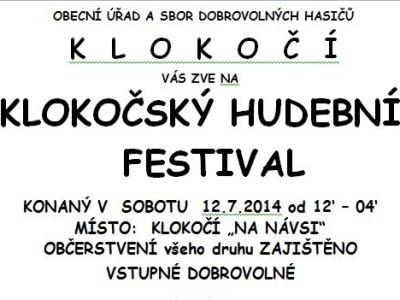 Náves v Klokočí rozezní hudební festival