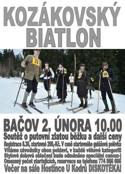 Kozákovský biatlon pořádají na louce u Kodrů
