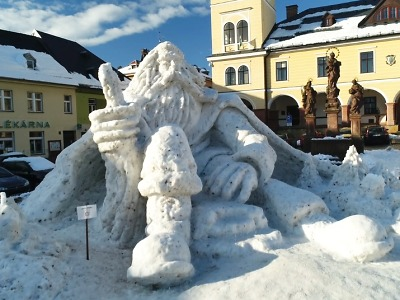 VIDEO: Jilemnický sněhový Krakonoš 2021