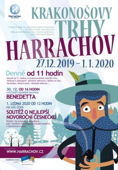 Krakonošovy trhy tradičně oslaví konec roku v Harrachově