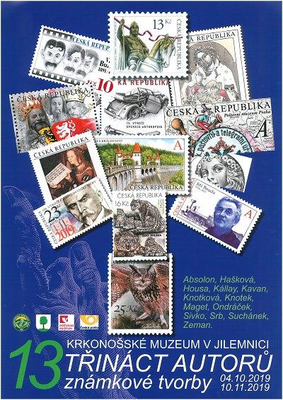 V Krkonošském muzeu představí 13 autorů známek