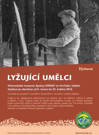 Krkonošské muzeum otevřelo výstavu lyžujících umělců