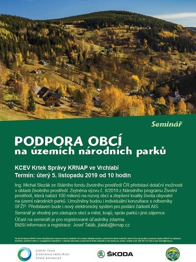 Správa KRNAP pořádá seminář na podporu obcí v národním parku