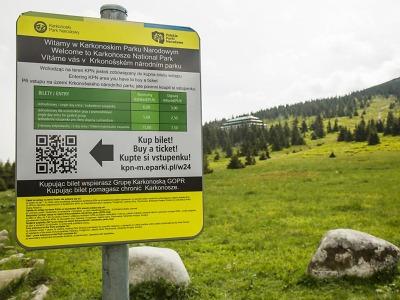 Do polského národního parku se platí vstupné, nyní i elektronicky