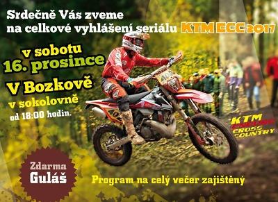 Motoseriál KTM ECC 2017 slavnostně zakončí v Bozkově