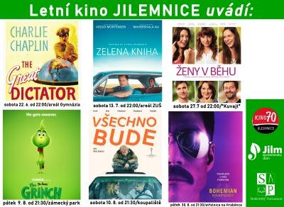 Letní kino v Jilemnici bude letos promítat na celkem šesti místech