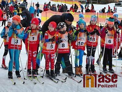 V Popelkách závodily nejmenší lyžařské naděje