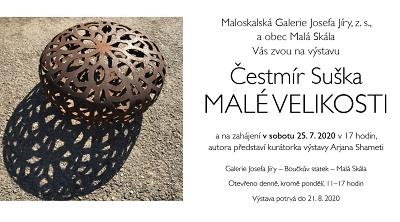V Maloskalské galerii zahájí výstavu Čestmíra Sušky
