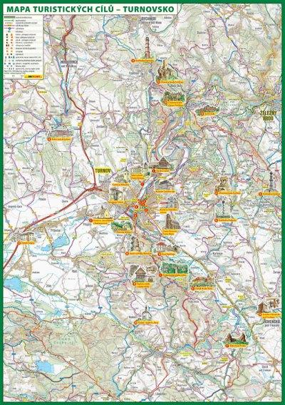 Turnovsko má novou mapu turistických cílů