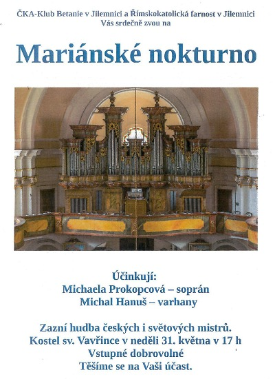 V jilemnickém kostele zazní Mariánské nokturno