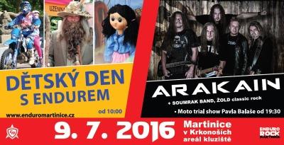 Enduro Martinice pořádá zábavu pro děti i koncert skupiny Arakain